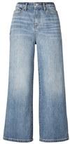 Banana Republic Light Wash High-Rise Wide-Leg Crop Jean