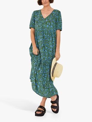 Hush Penelope Floral Print Midi Dress, Green/Multi