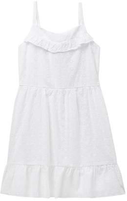 Trixxi Ruffle Eyelet Dress (Big Girls)
