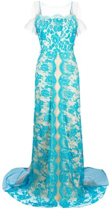 Parlor Lace Embroidered Maxi Dress