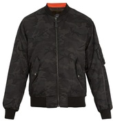 Yves Salomon Camouflage-print fur-lined bomber jacket