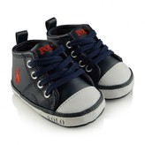 Navy Leather Sag Harbour Pre Walker Trainers