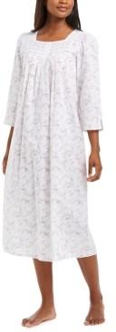 Miss Elaine Cotton Floral-Print Nightgown
