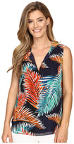 Vince Camuto Sleeveless Tropical Mystique Keyhole Blouse