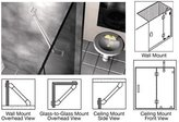"""CR Laurence CRL Chrome 39"""" Wall Mounted Support Bar"""