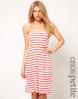 Asos Stripe Sundress With Tie Shoulders