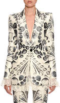 Alexander McQueen Cabinet Shells Wool-Silk Blazer