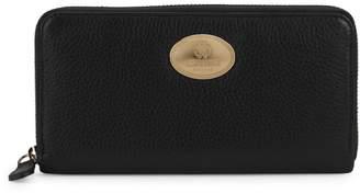 Roberto Cavalli Pebbled Leather Zip-Around Wallet