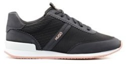 HUGO BOSS Lace-up trainers with knit-detail uppers