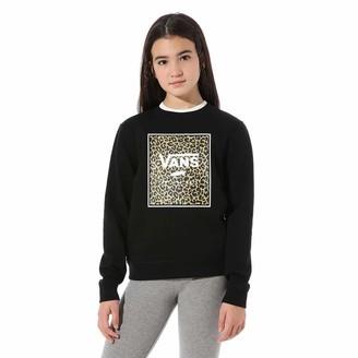 Vans Girl's Leopard Box Crew Pullover Sweater