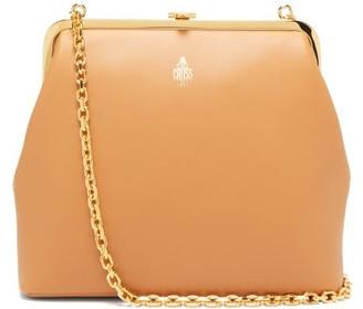 Mark Cross Susanna Leather Clutch Bag - Womens - Beige