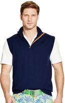Ralph Lauren Suede-Trim Merino Wool Vest