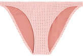 Melissa Odabash Aruba Perforated Bikini Briefs - Blush