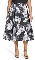 Alex Evenings Midi Skirt (Plus Size)