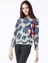 MSGM Grey Floral Maglia Sweater