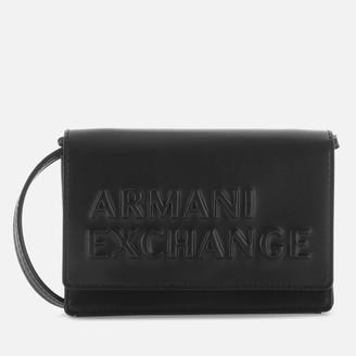 Armani Exchange Women's Maddie Debossed Waist Bag - Black