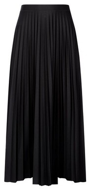 Dorothy Perkins Womens Black Jersey Pleat Midi Skirt, Black