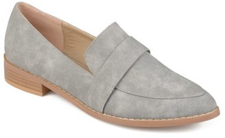 Brinley Co. Womens Faux Leather Almond Toe Classic Loafers