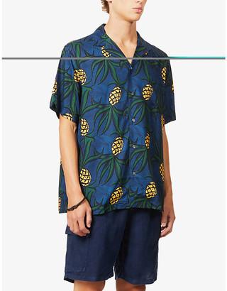 Reyn Spooner Whacky Pineapple fruit-print woven shirt