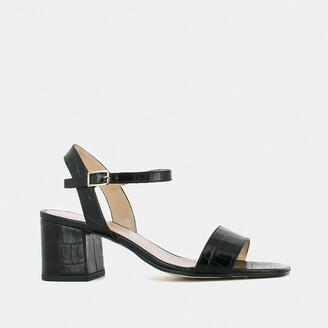 Jonak Vadym Sandals in Mock Croc Leather