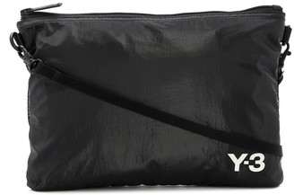 Y-3 Logo-Print Shoulder Bag