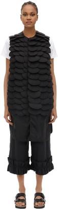 Moncler Genius Noir Iridium Embellished Long Nylon Vest