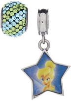 Tinkerbell Green Crystal & Stainless Steel Charm Set
