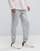 Mango Man Slim Fit Joggers In Light Grey