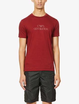 Emporio Armani Generation-print cotton-jersey T-shirt
