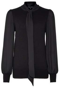Dorothy Perkins Womens Black Pussybow 2