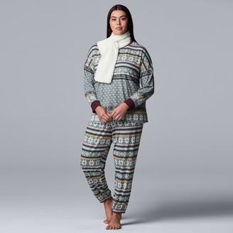 Vera Wang Plus Size Simply Vera 3-Piece Pajama Set