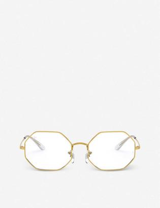 Ray-Ban RX1972V metal octagonal-frame glasses