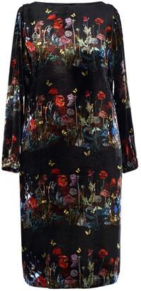 AILANTO Black Dandelions Dress