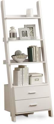 Monarch Ladder Bookcase with Drawers