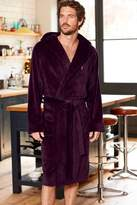 Mens Next Plum Super Soft Hooded Dressing Gown - Red