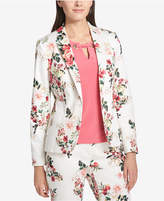 Tommy Hilfiger Floral-Print One-Button Blazer