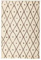 "Solo Rugs Moroccan Area Rug - Beige Diamonds, 4'1"" x 5'10"""
