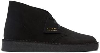 Clarks Black Suede Coal Desert Boots