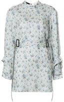 Calvin Klein floral print belted blouse - women - Silk - 0
