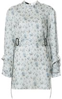 Calvin Klein floral print belted blouse