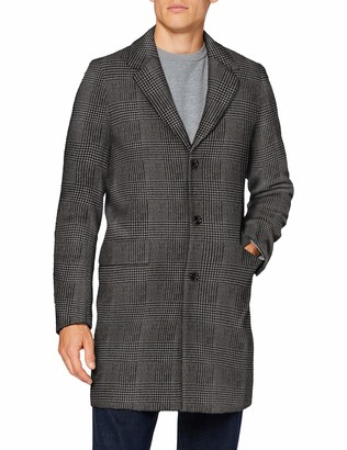 Scotch & Soda Men's Classic Wool-Blend Overcoat Coat