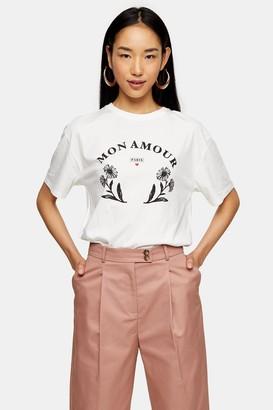 Topshop TALL Mon Amour T-Shirt