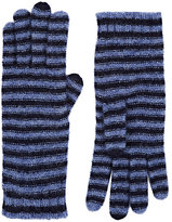 Barneys New York Women's Striped Cashmere-Blend Gloves-Blue