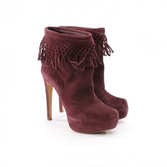 Christian Dior Purple Suede Ankle boots