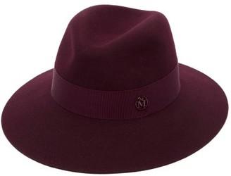 Maison Michel Henrietta Waterproof Felt Fedora Hat - Burgundy