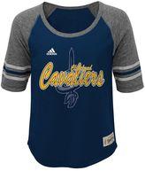 adidas Girls 7-16 Cleveland Cavaliers High-Low Raglan Tee