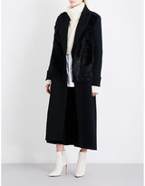 Ann Demeulemeester Howard stretch-wool and shearling coat