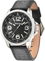 Timberland Men's Caswell Black Leather Strap Watch 44x50mm TBL14247JS02