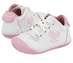 Stride Rite SRT SM Duckling (Infant/Toddler) (White/Ballerina Pink) - Footwear
