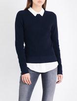 Frame Waffle-knit cotton ancd cashmere-blend jumper